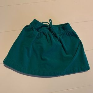 Carters green corduroy skirt 3T
